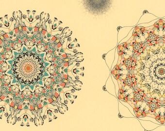 My love for stars - mandala print mandala giclee abstract design colorful mandalas fine art star print art print colorful
