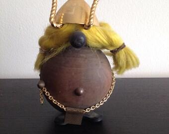 Vintage Mid Century Modern Scandinavian Danish Teak Viking Figurine