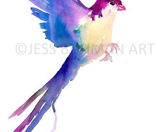 Watercolor Bird Print, Abstract Bird Art, Colorful Bird Print, Minimalist Painting, Minimalist Bird, Watercolor Art, Bird Art, Abstract Art