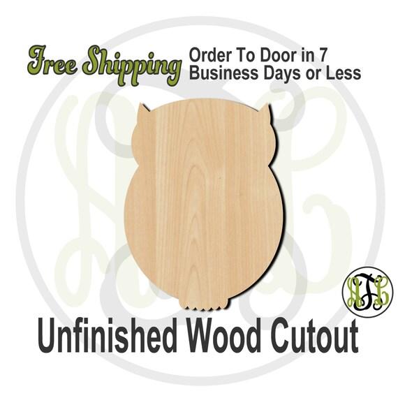 Owl 2 - 230007- Bird Cutout, unfinished, wood cutout, wood craft, laser cut shape, wood cut out, Door Hanger, wooden, blank
