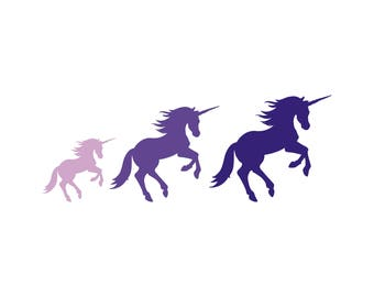 Blessing of Unicorns Family Car Decal