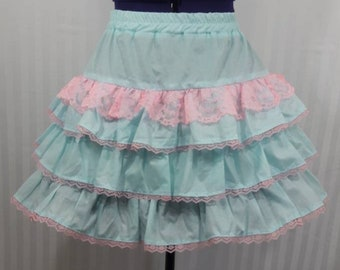 Pastel blue skirt fairy kei gothic goth lolita small-plus size