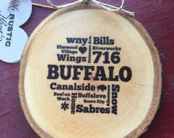Buffalo Collage Ornament