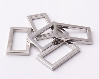 """Rectangle rings 15/16""""inch 24mm rectangular buckles 3mm thickness Purse ring Strap Rectangle Ring for bags fingdings"""