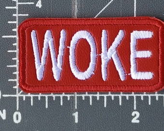 WOKE embroidered patch w/ iron-on backing / FREE SHIPPING to U.S.