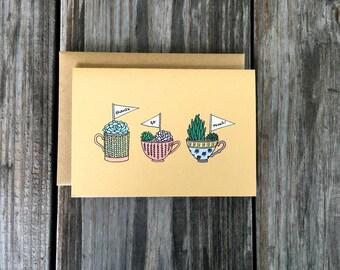 Succulent Thank You Card Set, Handmade Thank You Cards, Thank You Card Set