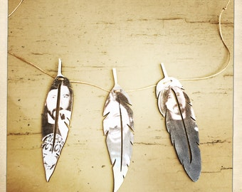 Wooden 3-feather Garland