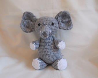 Crochet Elephant, Amigurumi Elephant, crochet new baby gift, nursery decoration, crochet elephant plushie