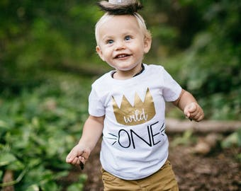 Where The Wild Things Are, First Birthday Shirt, Birthday Shirt, Wild One, Max, Crown, 1 Birthday, Cake Smash, Bodysuit