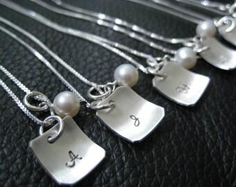 Colliers de demoiselles d'honneur de mariage personnalisé monogramme SusanKJewelry