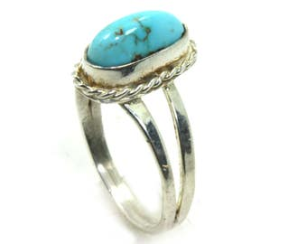 Turquoise ring, Handmade 925 Sterling Silver Turquoise Ring, Boho Ring, Vintage Ring, Silver Turquoise Ring, Birthstone Ring, Statement Ring