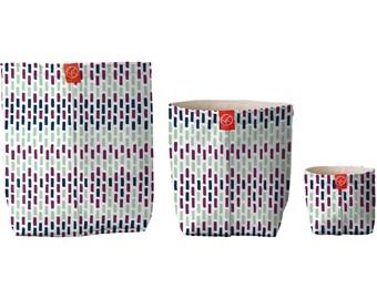 Tissu seaux (motif de vin Wovn), les enfants salle de rangement, sacs de maquillage, rangement salle de bain, toile de paniers, Home Decor, panier-cadeau, pochette cadeau