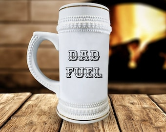 "Funny ""Dad Fuel"" Beer Mug"