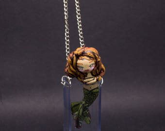 Necklace Little Mermaid zen in the jar