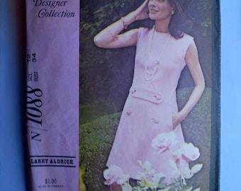 Vintage 60s Larry Aldrich Designer Dress Pattern 34