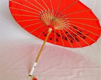 Antique parasol vintage umbrella chinese silk parasol wood umbrella japanese geisha umbrella blue red umbrella