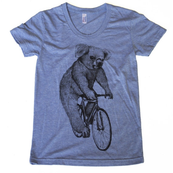 Lion on a bicycle - Baseball Raglan Tee, Mens T Shirt, Unisex Tee, Cotton Tee, Handmade graphic tee, Bicycle shirt, Bike Tee, sizes xs-xxl