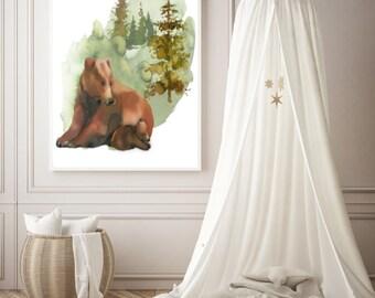 PDF Printable Art - Mama Bear and Baby Bear