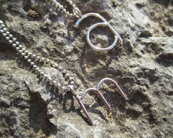 Personalized Sterling Silver Lowercase Initial Necklace -Custom