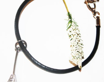 Lacrosse Minimalist Leather Bracelet  ... Toggle Clasp Close ... Great Team or Coach Gift