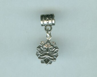 Sterling GREENMAN Bead Charm for Name Brand Add a Bead Bracelets
