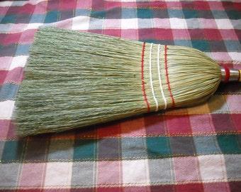 Red wooden handle Kitchen Broom-corn broom-handmade broom-besom-broom-going green