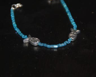 Blue Pearl with fish bracelet