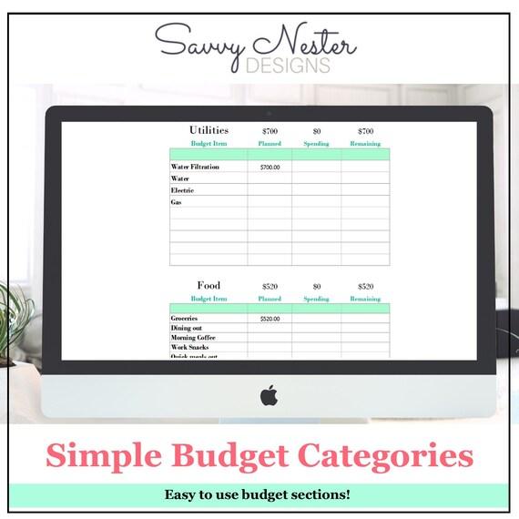 easy budget tool opucuk kiessling co