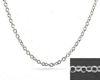 20 inch Rolo Chain Sterling Silver 2.5mm  Belcher Rolo Necklace with Lobster Clasp