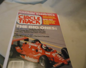 Vintage September 1986 Petersen's Circle Track The Big Ones Magazine Volume 5 Number 9, collectable