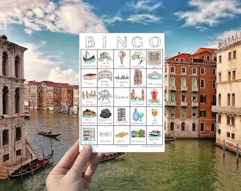 Venice, Italy Travel Bingo - Instant Download, Printable Travel Game, Wanderlust Traveller Digital Download