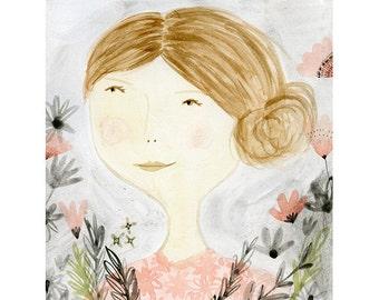 Art print - Pink portrait