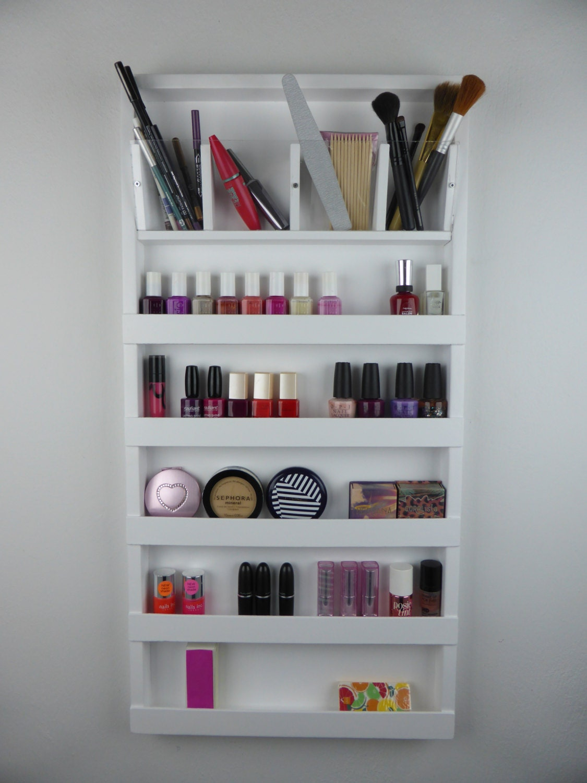 White make up organizer display bathroom storage