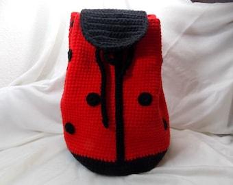 ladybug backpack, ladybug bag, bag for children