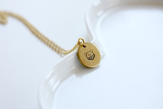 Personalized disc tag Handstamped necklace Engraved jewelry