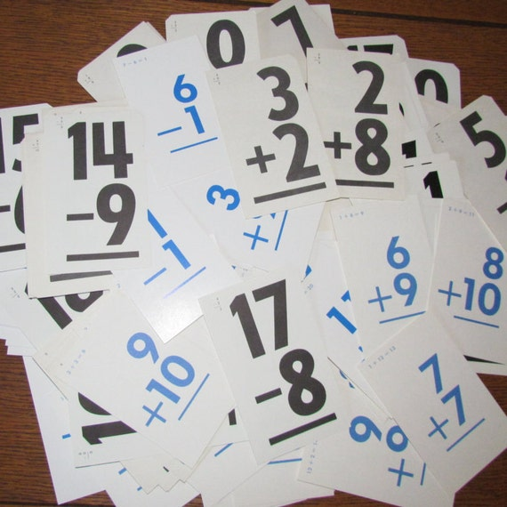 Vintage flash cards, math flash cards, flash cards for crafting, flash card crafts, flash cards for scrap booking, flash cards for art, math