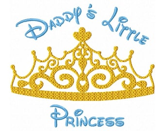 Daddy's Little Princess  Fill Machine Embroidery DESIGN  N0. 343