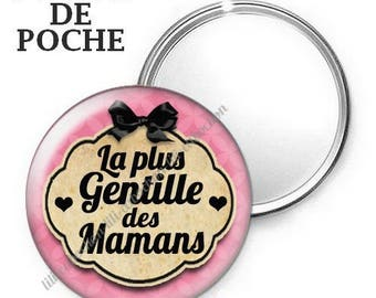 Mirror - badge - 56mm - so sweet with 2 moms