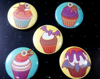 Horror Cakes 1 inch button set