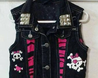 Punk Princess Girl Power Denim Vest