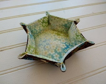 Flexible Hexie Fabric Tray - Asian Florals