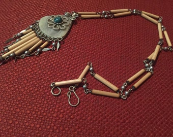 Beautiful Handmade Vintage Necklace Free Shipping