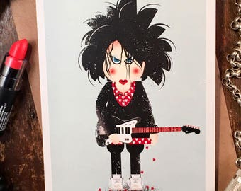 Lovesong, The Cure (Robert Smith) Valentines Card, Birthday Card, Greetings Card, Music Card