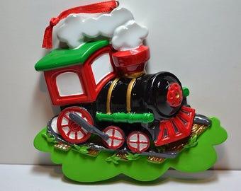 Personalized Christmas Ornament Choo Choo Train