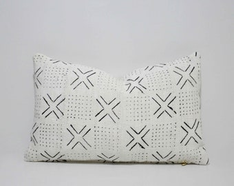 Decorative African Bogolan Mud Cloth Pillows Cover, SKU: MCP-004RC