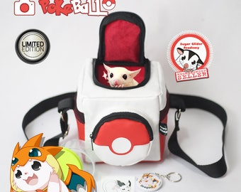 Pokemon Sun Moon Go Pokken Bag Pokeball Sugar Glider Academy Squirrel Rat Hamster Bonding Travel Pouch  (+ Many Bonus)
