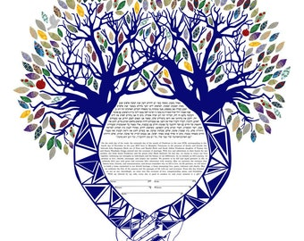 Supportive Hands Ketubah with Customized Text