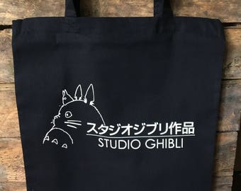 Studio Ghibli Black Tote Bag