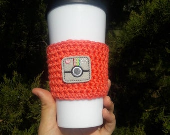 Gift for photographer, photographer gift, camera cup cozy, camera travel mug cozy, coffee sleeve, to go cup cozy, reusable cup cozy, crochet