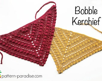 Crochet Pattern for Kerchief Headband,  PDF 16-230 INSTANT DOWNLOAD